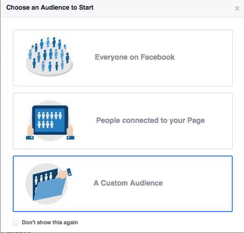 Facebook ads audiência customizada